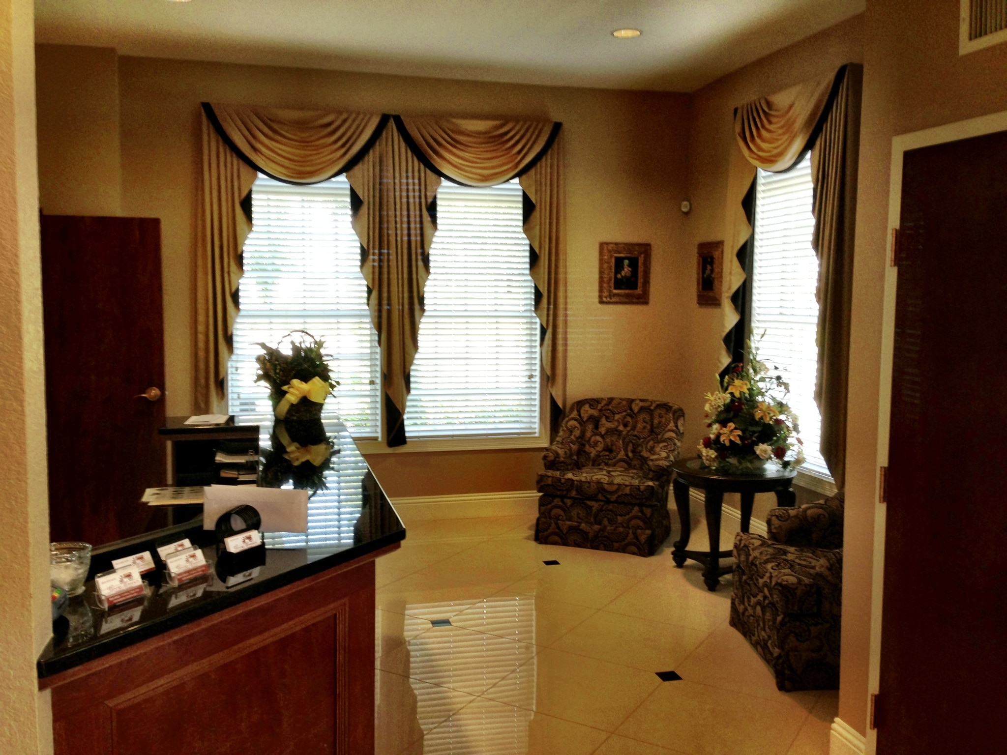 Flooring and Blinds at Funeral Home in Lakeland FL - Sunshine ...