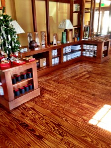 Sand and finish wood floor