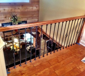 Wood Flooring with matching railing