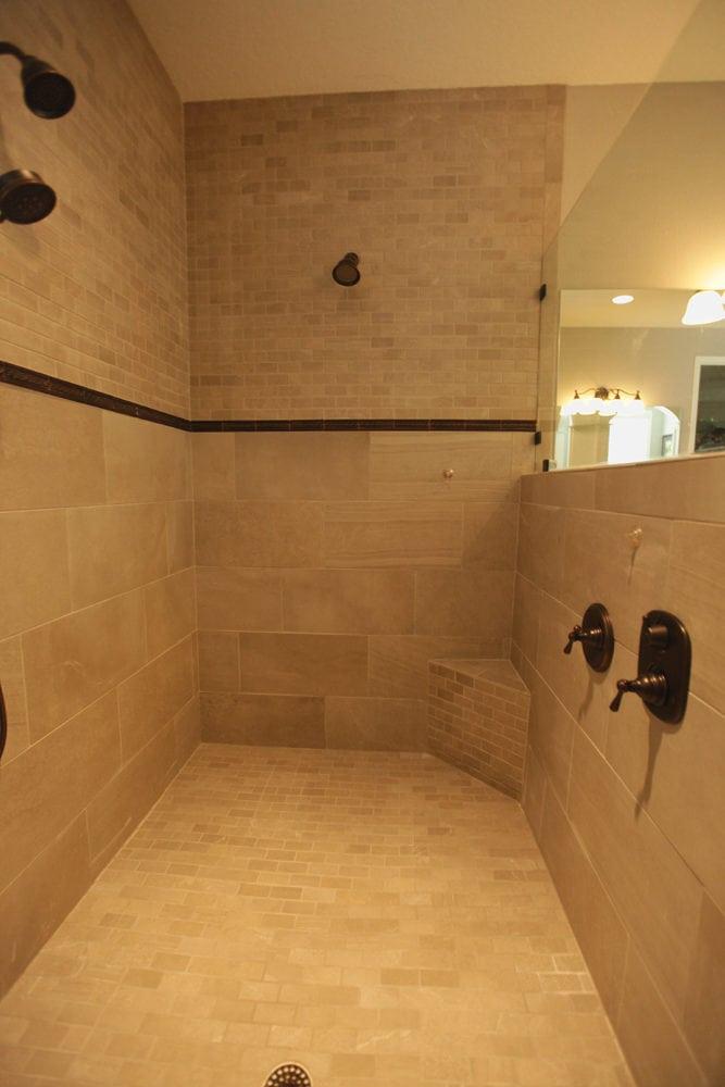 Ceramic tile in shower