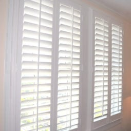 Polycore plantation shutters in Terrace Hotel in Lakeland FL