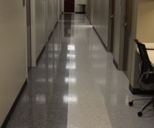 VCT Flooring @ Wound Care LRMC